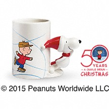 This fun, festive and adorable PEANUTS® Christmas mug is the perfect 2-in-1 gift. Filled with flowers or with hot cocoa, the Teleflora exclusive is sure to become a family favorite for years to come. FDA-approved to safely serve and store food and dishwasher safe.
