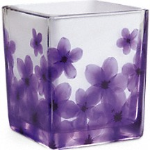 Teleflora's Dancing Violets Bouquet Vase